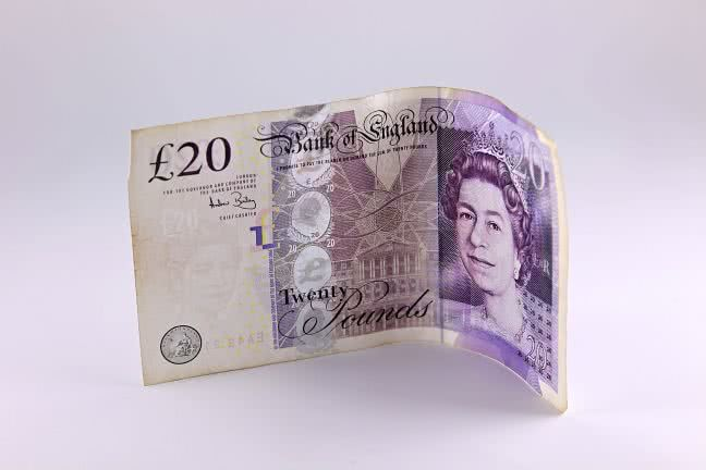 British twenty pound note - free stock photo