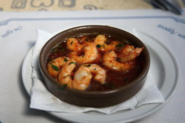 Shrimps al pil pil - free stock photo